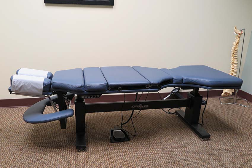 owens chiropractic close up chiropractic drop table side